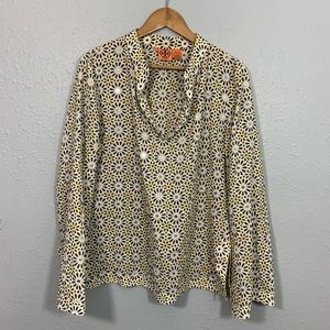 TORY BURCH Sequin Long Sleeve Top Size 14